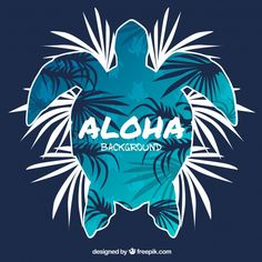 Aloha typography with turtle illustration. Turtle in tattoo style. Ideal for coloring page, shirt design effect, logo, tattoo and decoration - Buy this stock vector and explore similar vectors at Adobe Stock Hawaii, Palm Tree Print, Travel Posters, Cute Wallpapers, Aesthetic Wallpapers, Illustrations, Coloring Pages, Vector Free, Adobe Illustrator