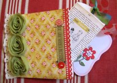 This is made with a simple brown lunch bag or two and some mini envelopes