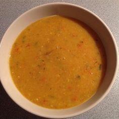 Rezept für Rote-Linsen-Kokos-Suppe