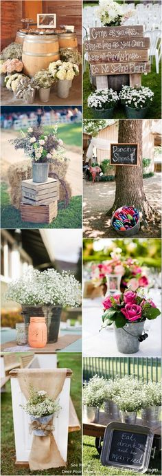 Rustic Buckets Tubs Wedding Ideas / www. Perfect Wedding, Fall Wedding, Diy Wedding, Rustic Wedding, Wedding Flowers, Dream Wedding, Wedding Stuff, Angels Garden, Here Comes The Bride