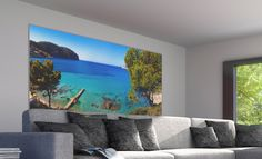 cadre mural intgrant une toile tendue imprime permettant de crer et changer dambiance au