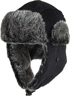 Great for Always Warm Corduroy Safety Reflector Ushanka Collection Aviator  Trooper Trapper Hat Winter Faux Fur 193329396bc7