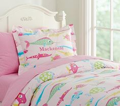 I love the Funny Fish Duvet Cover on potterybarnkids.com