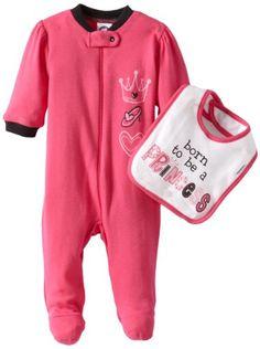 Gerber Baby-Girls Newborn 2 Piece Zipper Sleep N Play and Bib Set - List price: $10.00 Price: $5.47