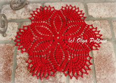 Very simple doily, perfect for beginners, size 3 thread, size D (3.25 mm) hook
