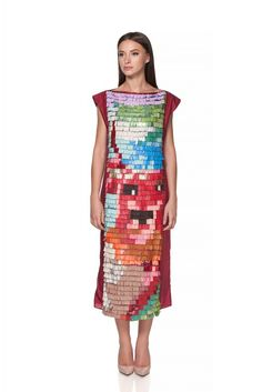 Maria Alina Margulescu – Mosaic Dress Contemporary Fashion, Traditional Design, Mosaic, Dresses For Work, Atelier, Mosaics, Mosaic Art, Modern Fashion