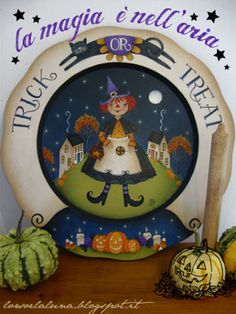 Dolcetto+o+scherzetto++Trick+or+Treat+Painting+by+IleniaChiodini
