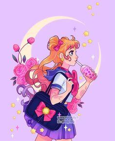 Sailor Moon Personajes, Princesa Serenity, Moon Icon, Arte Sailor Moon, Sailor Moon Aesthetic, Dope Cartoon Art, Sailor Moon Wallpaper, Black Love Art, Art Drawings For Kids