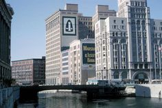Milwaukee River Downtown-View looks north toward Wisconsin Avenue-1966.
