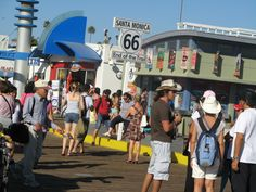 Santa Monica pier is the official end of the famous Route 66