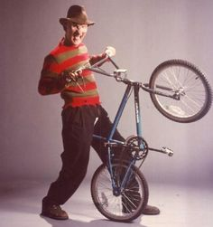 RIP Wes Craven. Thanks for the memories (and Nightmares). #WesCraven #FreddyKrueger #bicycle