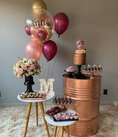 Happy Birthday Decor, Simple Birthday Decorations, Birthday Party For Teens, Gold Birthday, 21st Birthday, Anniversaire My Little Pony, Deco Floral, Its My Bday, Instagram