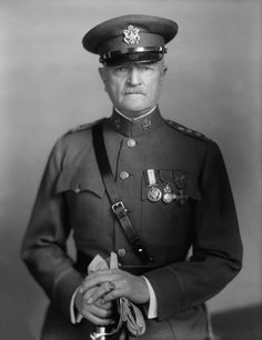 """John Joseph """"Black Jack"""" Pershing (9/13/1860-7/15/1948), was a general officer in the United States Army who led the American Expeditionary Forces in World War I. Pershing is the only person to be promoted in his own lifetime to the highest rank ever held in the United States Army—General of the Armies."""