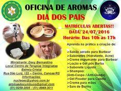 Aromas do Cumbuco: OFICINA DE AROMAS - DIA DOS PAIS - VAGAS LIMITADAS...