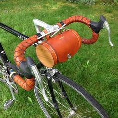 """Bicycle Handlebar Bag - """"The Barrel Bag"""" Bicycle Bag - Leather Bicycle Accessories Leather Bicycle, Bicycle Bag, Leather Bag, Bicycle Shop, Leather Craft, Barrel Bag, Bicycle Maintenance, Bike Seat, Leather Conditioner"""
