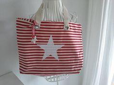 Tasche, Umhängetasche , Strandtasche von rosa rot auf DaWanda.com