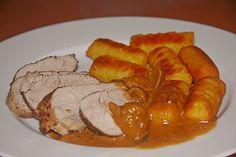 Schweinefilet mit Pilzrahmsoße, ein sehr leckeres Rezept aus der Kategorie Pilze. Bewertungen: 10. Durchschnitt: Ø 3,9.