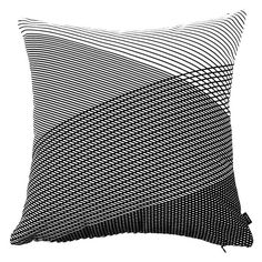 Moncur Black Striped Cushions, Monochrome, Indoor, Throw Pillows, Collection, Black, Interior, Toss Pillows, Monochrome Painting