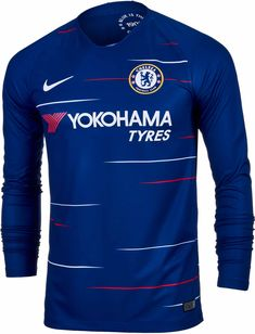Get the Nike Chelsea Home Long Sleeve Jersey from SoccerPro today. Chelsea Soccer, Fc Chelsea, Chelsea Fc Wallpaper, Chelsea Shirt, Football Kits, College Football, European Soccer, Tottenham Hotspur, Soccer