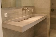 Concrete sink wall mounted