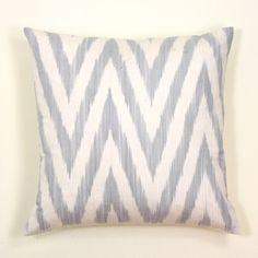 grey zig zag pillow $45