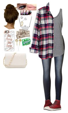 """""""Untitled #259"""" by haleyparis ❤ liked on Polyvore featuring Madewell, Converse, Erica Courtney and Casetify"""
