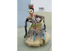 #Dress, #Fabric, #Fashion, #TrashArt, #Trashion