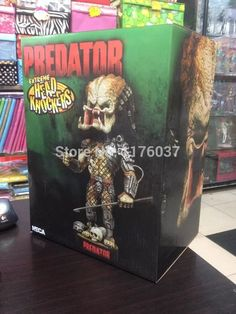 "Find More Action & Toy Figures Information about Vogue Classic Schwarzenegger Sci Fi/Horror Movie  Predator Spear Extreme 7"" Head Knockers/Bobble Head Doll Toy New Box,High Quality Action & Toy Figures from Paradise Island on Aliexpress.com"