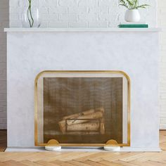 Deco Fireplace Screens | west elm Canada Metal Fireplace, Fireplace Cover, Fireplace Screens, Marble Fireplaces, Mirror Wall Art, Wall Art Decor, Fireplace Accessories, Bed Duvet Covers, Room Planning