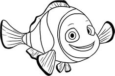 Cute Fish Coloring Pages for Kids from the Finding Nemo Movie. Do not be hesitant to try a fish coloring pages ideas for children. Animal Coloring Pages, Coloring Pages To Print, Coloring For Kids, Coloring Pages For Kids, Coloring Books, Rainbow Fish Coloring Page, Animal Pictures To Color, Finding Nemo Coloring Pages, Clown Pics