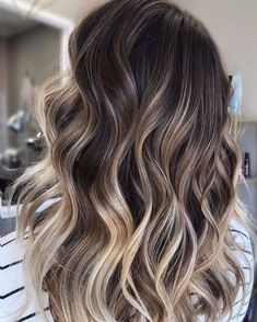 Label Balayage Ombré, Balayage Highlights, Caramel Highlights, Brunette Highlights, Brown Balayage, Brown Blonde Hair, Light Brown Hair, Black Hair, Neutral Blonde