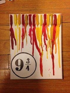9 3/4 crayon art