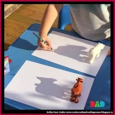 Dollar Store Crafter: Use Dollar Store Toys As 'shadow templates' ~ Kid'. Dollar Store Crafter: Use Dollar Store Toys As 'shadow templates' ~ Kid'.,School Dollar Store Crafter: Use Dollar Store Toys As 'shadow templates' ~ Kid'. Kids Crafts, Summer Crafts, Toddler Crafts, Projects For Kids, Diy For Kids, Arts And Crafts, Paper Craft For Kids, Science Projects For Preschoolers, Toddler Play