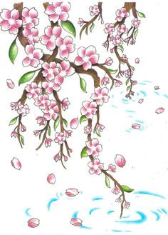 Weeping Cherry Blossom Tree Tattoo Cherry blossom remix by jen-