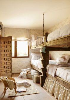 Uma bela casa de campo rústica