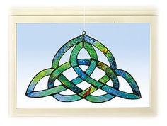 Triqueta Stained Glass