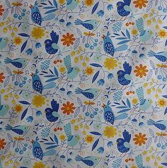 Moda Quilting Fabric  On The Wing Bluebird -35261-11Floral Cotton Quilt Sew N137