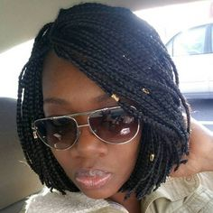 The 10 Most Beautiful Small Box Braid Hairdos Black Bob Braids Bob Bob Box Braids Styles, Blonde Box Braids, Jumbo Box Braids, Black Girl Braids, Small Braids, Box Braids Styling, Braids For Short Hair, Short Hair Styles, Black Braid Styles