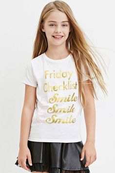 Girls Metallic Friday Graphic Tee (Kids)