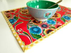 ModernJune: Oilcloth Placemats