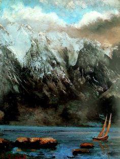 Lago Leman /Le lac Leman. Painter: Gustave Courbet.