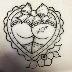 Risultati immagini per traditional heart butt tattoo