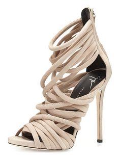 Giuseppe Zanotti Strappy Suede 110mm Sandal