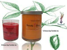 Friendly Fumes Spa Tumbler Series Candle Jars, Candles, Soap Boxes, Tumbler, Spa, Drinkware, Candle Mason Jars, Mug, Candle