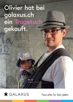Olivier hat bei galaxus.ch ein Tragetuch gekauft. #GalaxusLive #Galaxus