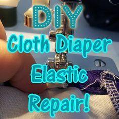DIY Cloth Diaper Elastic Repair Tutorial on Diaper Junction!  http://www.diaperjunction.com/Cloth-Diaper-Tip-DIY-Cloth-Diaper-or-Cover-Elastic-Repair-_b_722.html  #DIY #ClothDiapers #diapersewing