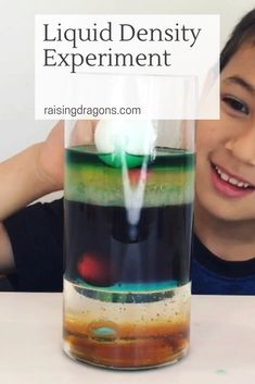 Liquid Density Experiment ages 4 is part of Science Museum Experiment - This liquid density experiment is a classic, kitchen science experiment that is easy to pull together from objects you have around the house and will amaze! Science Activities For Kids, Steam Activities, Preschool Science, Learning Activities, Toddler Learning, Cool Science Experiments, Easy Science, Science Fair Projects, Stem Science