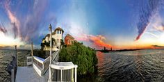 ImranAnwar posted a photo:  There is rarely a sunset that I have not been amazed by at my blessed home in Florida, in Apollo Beach, on Tampa Bay. But there are some that always make one take a sharp breath in amazement. This is one such dusk full spherical 360° up & down and all around interactive panorama that. Even though the sun had set the cloud on the opposite side was lit up like a magnificent replica of a cloud nebula far in outer space. This was stitched in PhotoShop from about 2…