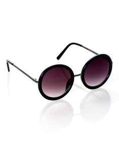 Look what I found on #zulily! Black Circle Sunglasses #zulilyfinds