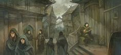 ©2010 Jon Hodgson    Lake-town for The One Ring rpg from Sophisticated Games and Cubicle 7.